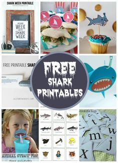 10 free shark printables by Double the Fun Parties | http://doublefunparties.com/2014/08/15/freebie-friday-free-shark-printables/