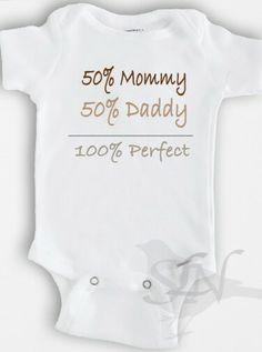 100% Perfect baby onesie