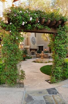 Amazing backyard entrance to outdoor living space