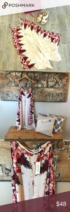 NWT plus size summer dress Asymmetrical handkerchief hem Built in necklace  Easy breezy summer look Dresses Midi