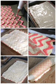 A Decorated Swiss Roll Cake Decorating Techniques, Cake Decorating Tips, Cookie Decorating, Center Blog, Swiss Roll Cakes, Cake Roll Recipes, Log Cake, Cute Desserts, Food Crafts