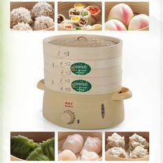 Free DHL 5pc high quality 6L mini green safe multilayer Bamboo products food steamer bamboo steamer electric steamer 220V 800W //Price: $US $625.00 & FREE Shipping //     #cleaningappliances