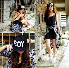 Blind Clothing Dress, Romwe Cap, Stylish Plus Cardigan Kryz Uy, Stylish Plus, Harajuku Fashion, Dress Outfits, Dresses, Romwe, Style Icons, New Look, Style Me