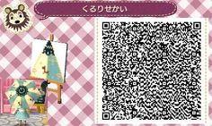 Pattern - cute umbrella qr code animal crossing