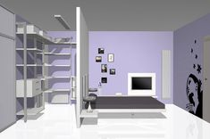 modern Minimalist Walk-in Closet Innovative Design, Cabina Armadio by Porro Bedroom Closet Design, Bedroom Wardrobe, Modern Bedroom Design, Dream Bedroom, Home Bedroom, Interior Design Living Room, Bedroom Decor, Wardrobe Behind Bed, Bedroom Layouts