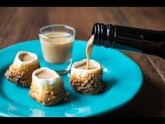 Marshmallow Shot Glasses with Baileys