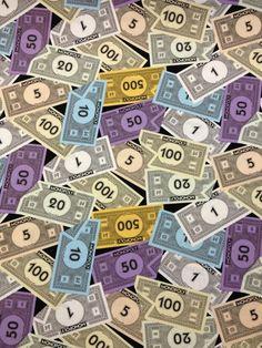 Q09 Monopoly Cash Money Game Board Children Games Cotton Fabric Quilt Fabric   eBay