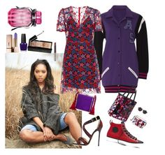 """""""Day to Night, Homecoming"""" by denibrad ❤ liked on Polyvore featuring Anna Sui, Bobbi Brown Cosmetics, Converse, Tabitha Simmons, Yves Saint Laurent, OPI, Alessandra Rich, Peter Pilotto and Victoria's Secret"""