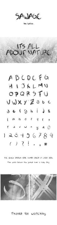 Sawage - rough handwritten brush display font - free