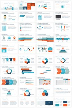 Career PowerPoint template in flat design style including 40 pre-designed slides. Sales Presentation, Business Presentation Templates, Corporate Presentation, Presentation Design, Ppt Design, Chart Design, Powerpoint Slide Designs, Ppt Template, Phone Etiquette
