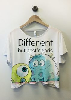 different, friends, and best friends image Bff Shirts, Disney Shirts, Disney Outfits, Cute Shirts, Funny Shirts, Bff Sweatshirts, Best Friend Outfits, Best Friend Shirts, Best Friends