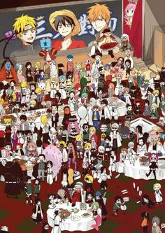 One Piece, Naruto and Bleach