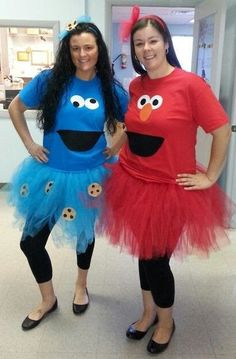 Costume Crafty: How to make a no sew Cookie Monster #sesamestreet #cookiemonster…