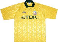 Classic Football Shirts : retro vintage soccer jerseys Classic Football Shirts, Vintage Football Shirts, Retro Shirts, Soccer Jerseys, Crystal Palace, Retro Vintage, Pattern, Mens Tops, Fashion