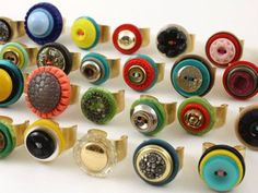 We will be making button rings on 9/12!