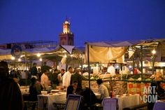 The Night Market, Jemaa El Fna Square, Marrakech, Morocco, North Africa, Africa Photographic Print by Neil Farrin at Art.com