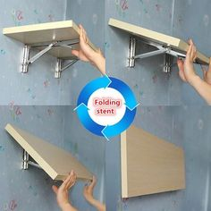 Shop Folding Table Support – Great deals on Folding Table Support on AliExpress Folding Table Support Promotion-Shop for Promotional Folding Table . Folding Furniture, Folding Walls, Diy Furniture, Furniture Design, Kitchen Furniture, Wall Table Diy, Wall Mounted Folding Table, Wall Mounted Desk, Pallet Wall Shelves
