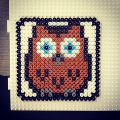 Owl hama beads by  heidi_assenberg