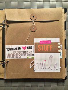 #papercraft #scrapbook #minialbum. Burlap Sn@p Binder by Ana Cabrera Moses