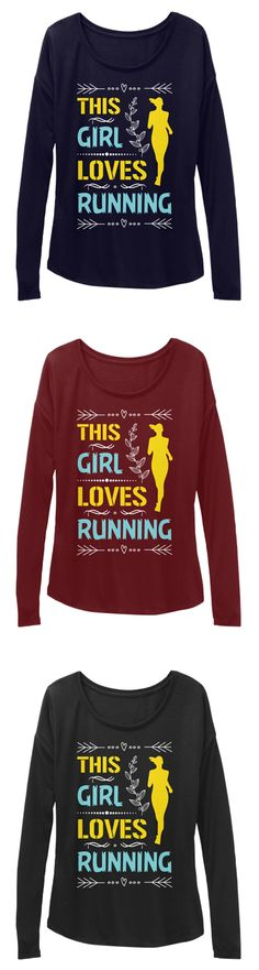 ⚡ You can get this if you love running ⚡ 🛒Get: https://teespring.com/this-girl-loves-running2