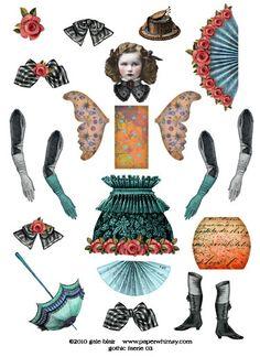 Paper Puppets, Paper Toys, Collage Sheet, Collage Art, Disney Paper Dolls, Vintage Paper Dolls, Art Plastique, Faeries, Beautiful Dolls