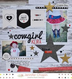 Cowgirl Keira by Jennifer Chapin - Scrapbook.com