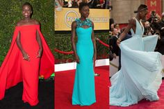 BEST: Lupita Nyong'o's Entire Awards Season  Photo 1 BEST: Lupita Nyong'o's Entire Awards Season She helped custom-make her shimmering Oscars Prada, and she picked a clever, crisp cerulean Gucci that decorated her rather than the other way around. But that Ralph Lauren cape from the Globes truly announced her, way louder than a megaphone ever could — an extraordinarily self-assured, unerring, challenging choice for a rookie. A global style crush was born