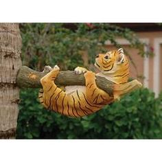Classic Garden Decor – XoticBrands Home Decor Garden Animal Statues, Garden Animals, Garden Statues, Unique Garden Decor, Unique Gardens, Chinese Pagoda, Classic Garden, Tiger Stripes, Cubs