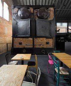 churtichaga+quadra salcedo (ch+qs) architects turned an old slaughterhouse in Legazpi, Madrid into a public cinema center