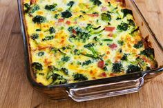 Kalyn's Kitchen®: Recipe for Broccoli, Ham, and Mozzarella Baked with Eggs