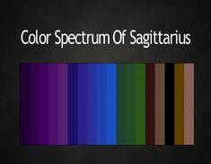 Color spectrum of Sagittarius Zodiac Signs Sagittarius, Zodiac Horoscope, My Zodiac Sign, Astrology Signs, Zodiac Memes, Zodiac Art, Libra Zodiac, Aquarius, Yen Yang