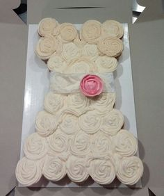 Bridal shower cupcakes by Two Sweets Bake Shop www.lovetwosweets.com
