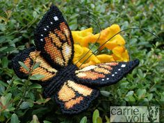 Needlepoint Monarch Butterfly, Labors of Love canvas