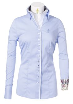 Arianna - Top seller blouse with a fine check (3 button collar) | Top Seller | FIOR DA LISO Women | Collections | FIOR DA LISO