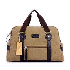 7649fb3b299 Canvas Travel Duffle Bags for Men Duffle Bag Travel, Duffel Bag, Mens  Travel Bag