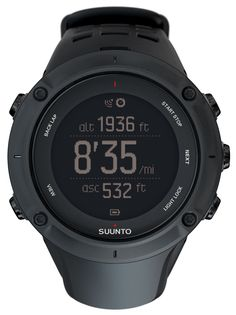 "SUUNTO Ambit3 Peak, Black. GPS; Compass; Altitude (Fusedalti-); Sunrise/Sunset; Temperature; Multiple Sports in One Log;. Activity Based Recovery Time; Speed, Pace and Distance; Bike Power Support (Bluetooth Smart);. Training Programs; HR Monitor; Smart Mobile Connectivity with iPad Mini/iPad Air;. Measurements: 50mm (1.97"") x 50mm (1.97"") x 18mm (0.71""); Weight: 89g (3.14oz);. Colour: Black; Warranty: 2 Years;."