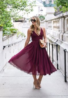 Whether that wedding takes you to wine country or a rustic barn in the mountains, there's the inevitable question of what to wear. Here's your wedding guest style guide (and it includes a lot ofburgundy)! Visions of Vogue blog