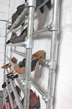 Galvanised Steel Pipe Shoe Rack