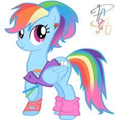 80's Rainbow Dash by pa0oliitahw.deviantart.com on @deviantART