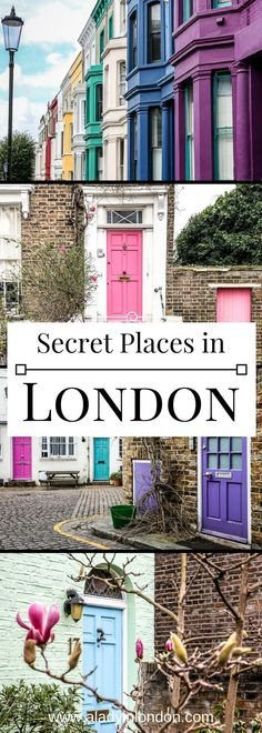 7 secret places in London you have to discover. From quiet mews to hidden gardens, they are just lovely. #london #travel