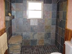 rock shower- how do you get those heavy stones in the house?  Strong men, where?
