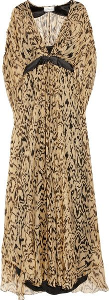 TEMPERLEY LONDON   Long Oberon Woven Silk Maxi Kaftan