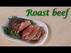Miniature Polymer Clay Roast Beef Tutorial (+Contest Winner!) - YouTube