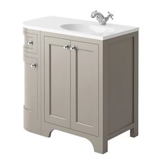 Buy the Butler & Rose Darcy Traditional Floorstanding Vanity Unit with Belfast Sink - Matt Grey from Tap Warehouse and add some traditional charm to your bathroom. Get free UK mainland delivery when you spend over here at Tap Warehouse. Corner Vanity Unit, Sink Vanity Unit, Vanity Basin, Bathroom Vanity Units, Wall Mounted Vanity, Traditional Vanity Units, Traditional Bathroom Sinks, Shower Bracket, Small Kitchen Sink