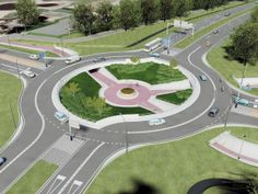 Turbo Roundabout Turborotonde Cyclists underneath fietstunnel fietsrotonde