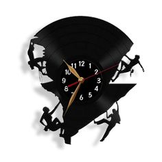 Clocks – Vinyl Clock Climbing, Record Wall Clock – a unique product by olgadecor77 on DaWanda