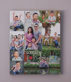 Personalized Family Collage Gift Custom CANVAS by papermintsshop, $140.00  |  https://www.etsy.com/listing/116995529/personalized-family-collage-gift-custom
