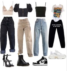 Swaggy Outfits, Baddie Outfits Casual, Kpop Fashion Outfits, Indie Outfits, Tomboy Fashion, Retro Outfits, Cute Casual Outfits, Outfits For Teens, Stylish Outfits