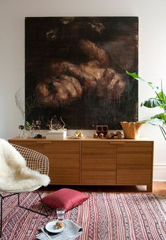 I realize it's interior decorating, but I just love this painting!