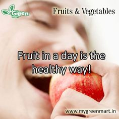 Fruit in a day is the healthy way! Green Fruit, Vegetables, Gallery, Healthy, Day, Veggies, Veggie Food, Vegetable Recipes, Health